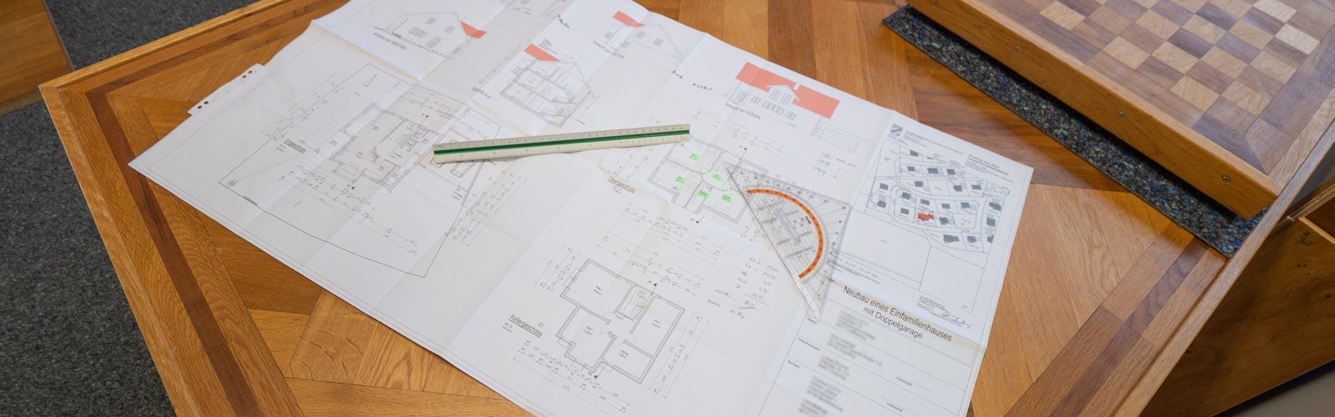 Architekten-Zeichnung